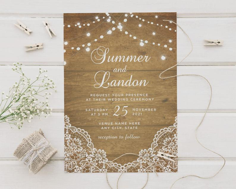 A Night to Remember Wedding Invitations & RSVP Card Set image 0