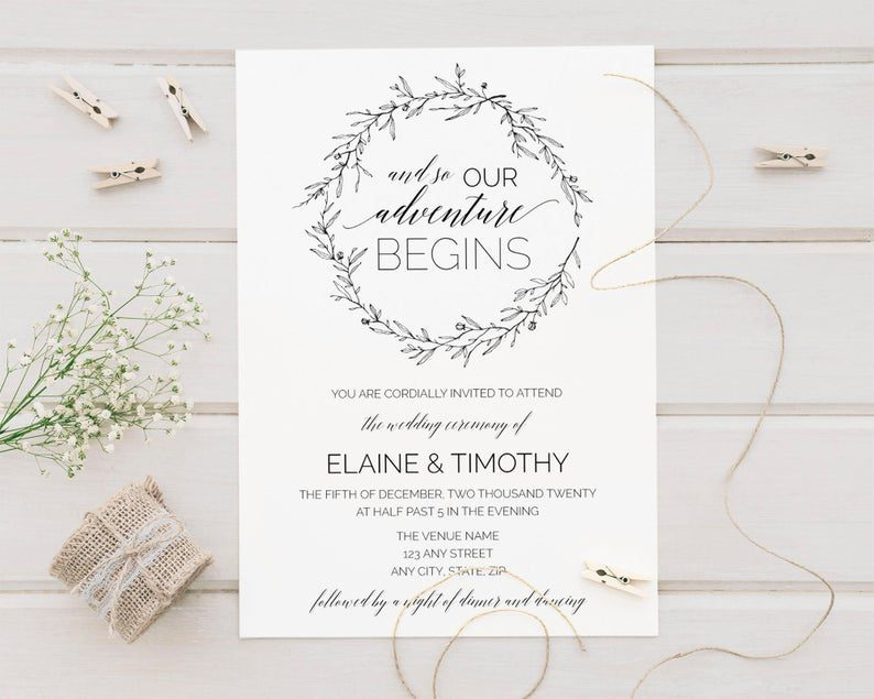 And So Our Adventure Begins Wedding Invitations & RSVP Card image 0