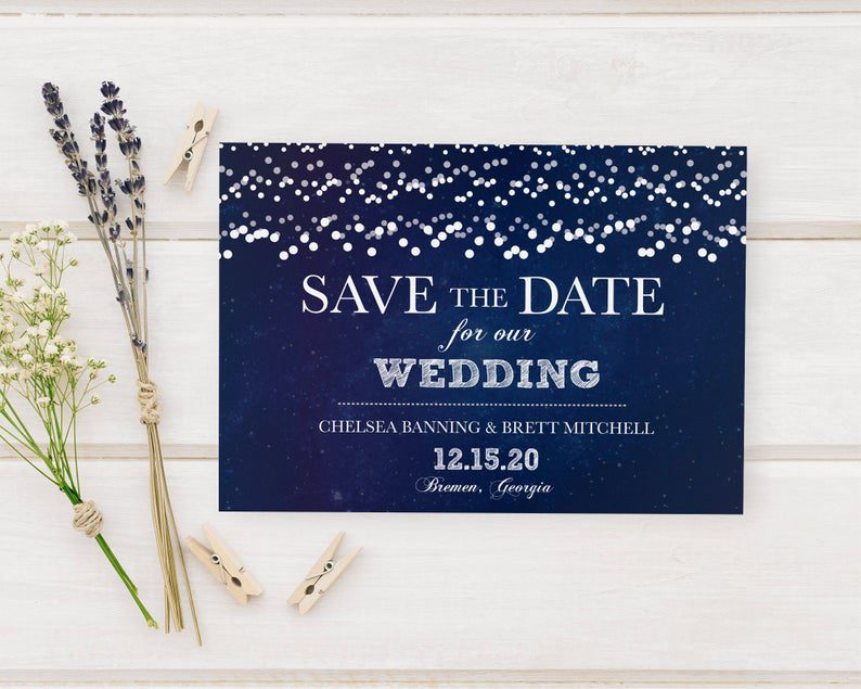 Silver Glitter Wedding Save The Date Cards Wedding Ceremony image 0