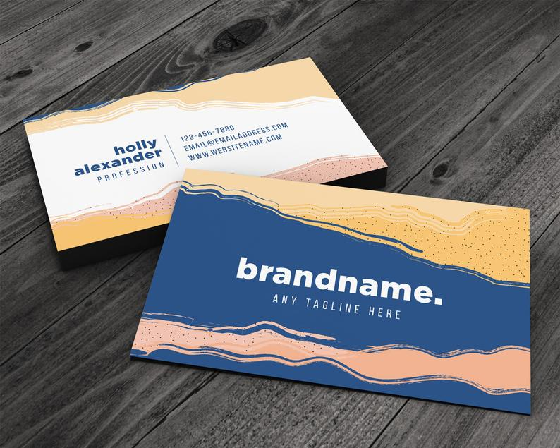 Painted Sand Premium Business Card for Artists Beauty & Spa image 0