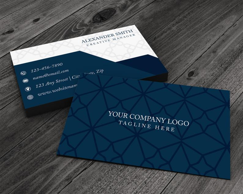 Professional Preppy Patterned Premium Printed Business Card image 0