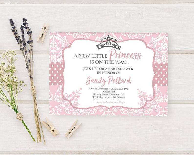 A Little Princess is on the Way Printed Baby Shower image 0