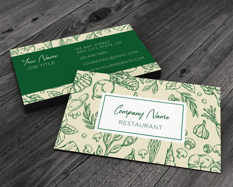 Vegetable and Herb Collage Pattern Premium Printed Business image 0
