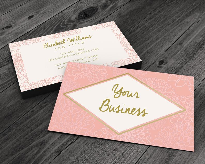 Pretty in Pink Premium Business Card for Artists Beauty & image 0