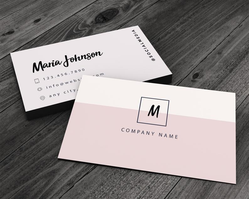 Simple and Clean Premium Printed Business Card for Artists image 0