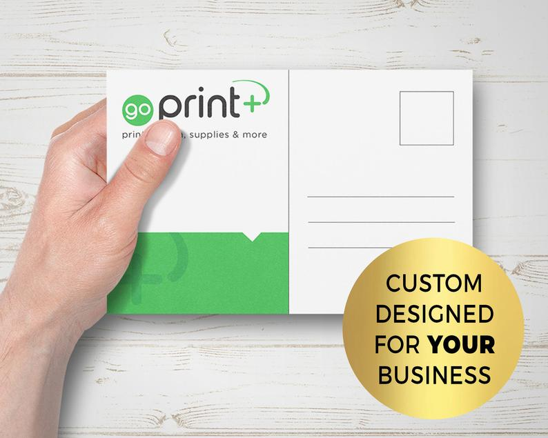Custom Designed Single or  Double Sided Printed Postcards for image 0