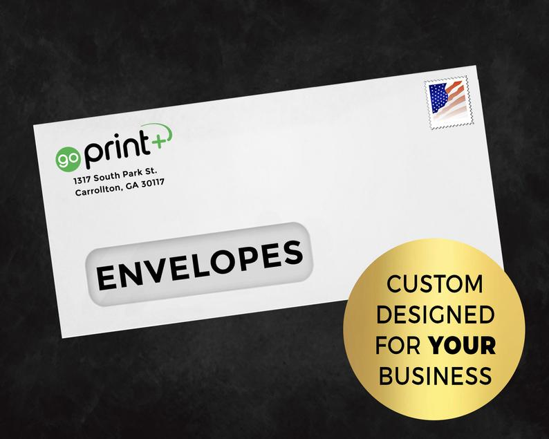 Premium Printed 10 White Envelopes For Any Business QTY 500 image 0