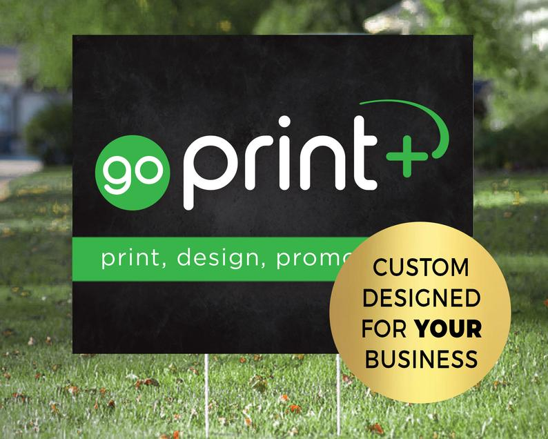 Custom 18x24 Double Sided Yard Signs with Stakes image 0